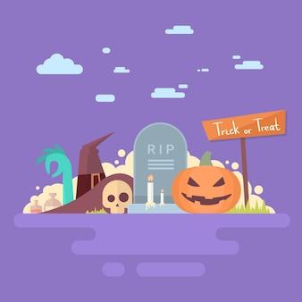 Carte d'invitation joyeux halloween bannière