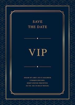 Carte d'invitation de luxe