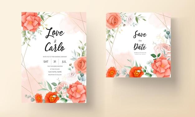 Carte d'invitation de mariage boho