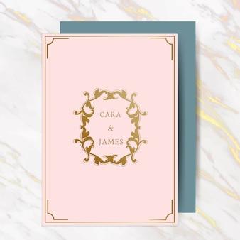 Carte d'invitation de mariage classique