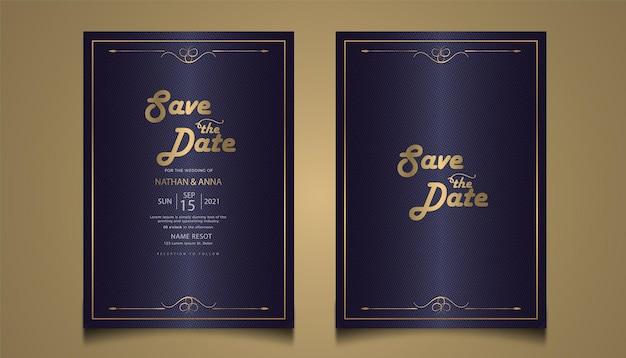 Carte d'invitation de mariage floral moderne design premium