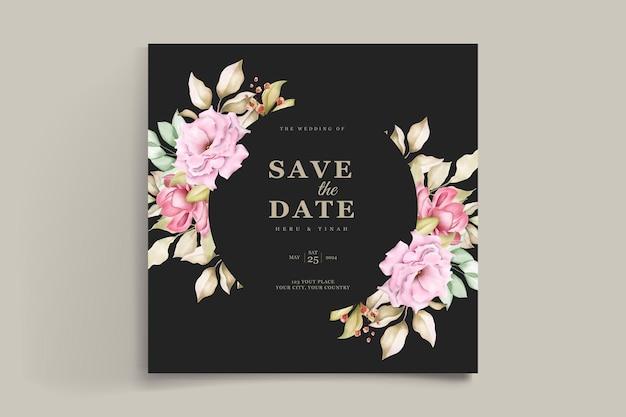 Carte d & # 39; invitation de mariage floral