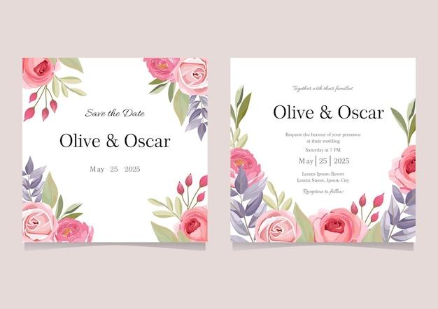 Carte d'invitation de mariage instagram feed