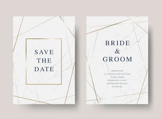 Carte d'invitation de mariage de luxe vintage