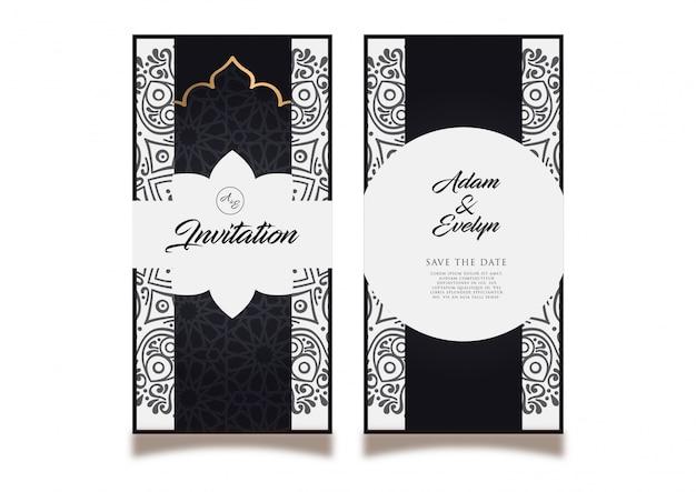 Carte d'invitation de mariage noir