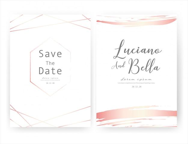 Carte d'invitation de mariage, réservez la carte de mariage de date.