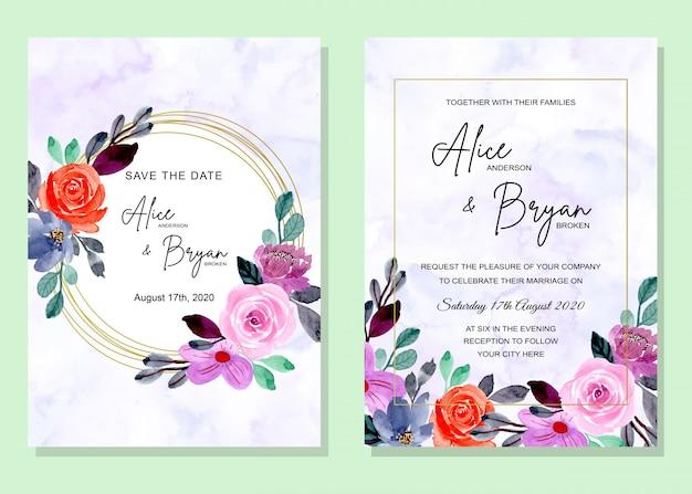 Carte d'invitation de mariage avec résumé