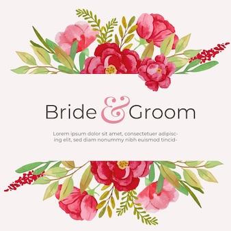 Carte d'invitation de mariage à thème floral