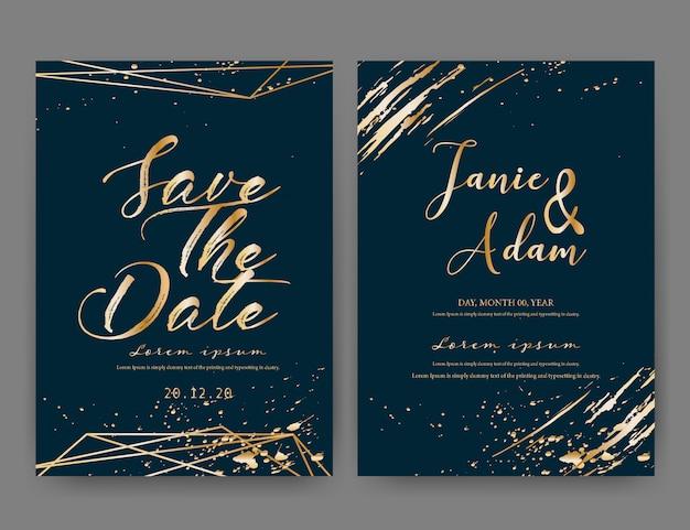 Carte d'invitation de mariage