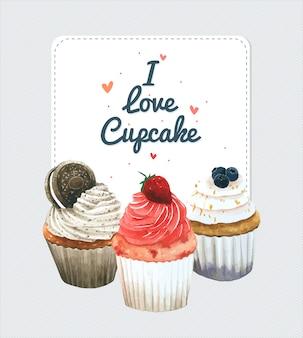 Carte d'invitation de petit gâteau