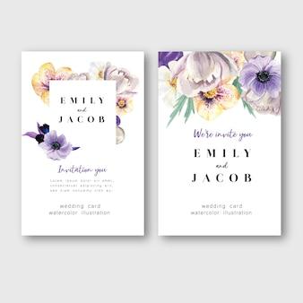 Carte d'invitation de printemps avec l'érable floral et les feuilles. fraîcheur botanique, carte de remerciement, fleur de la fête des mères