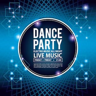 Carte d'invitation de soirée dansante