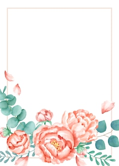 Carte d'invitation avec un thème floral