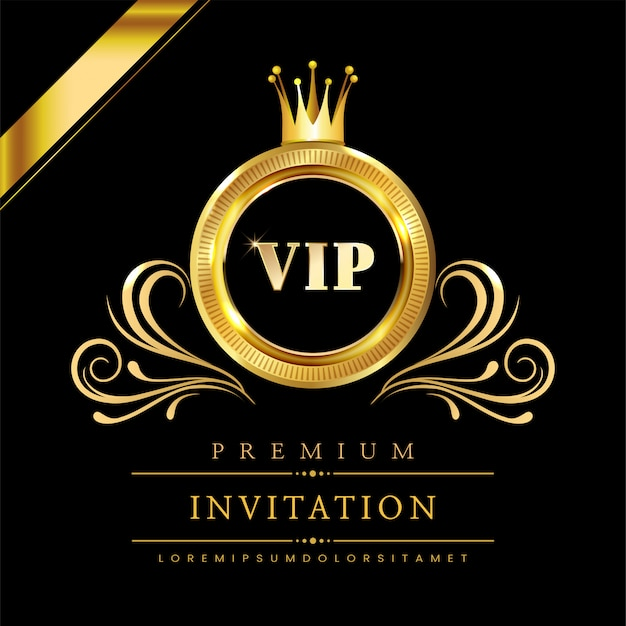 Carte d'invitation vip de luxe