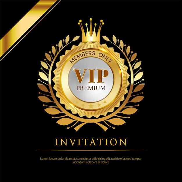 Carte d'invitation vip de luxe