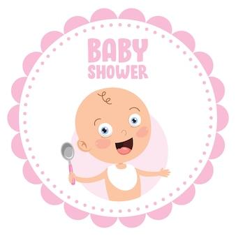 Carte d'invitation de voeux pour l'événement de douche de bébé