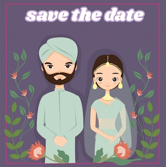 Carte d'invitations de mariage indien
