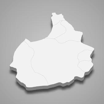 La carte isométrique 3d d'aksaray est une province de turquie