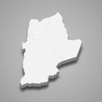 La carte isométrique 3d d'antofagasta est une région du chili