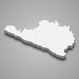La carte isométrique 3d d'arequipa est une région du pérou