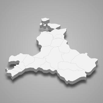 La carte isométrique 3d de balikesir est une province de turquie
