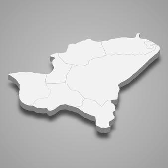 La carte isométrique 3d de bitlis est une province de turquie
