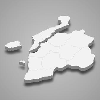 La carte isométrique 3d de canakkale est une province de turquie