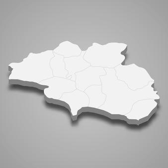 La carte isométrique 3d de cankiri est une province de turquie