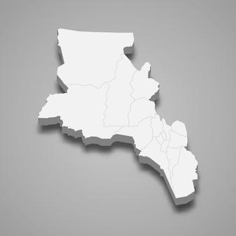 La carte isométrique 3d de catamarca est une province de l'argentine