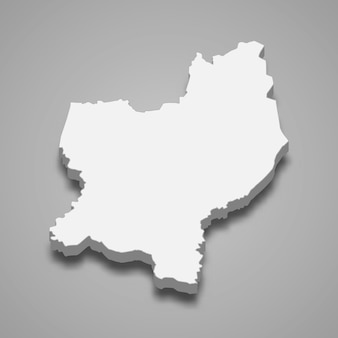Carte isométrique 3d du district nord est une région d'israël