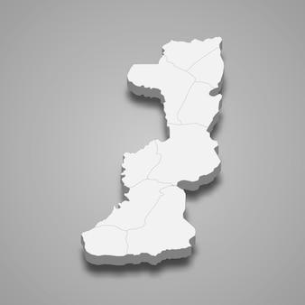La carte isométrique 3d d'edirne est une province de turquie
