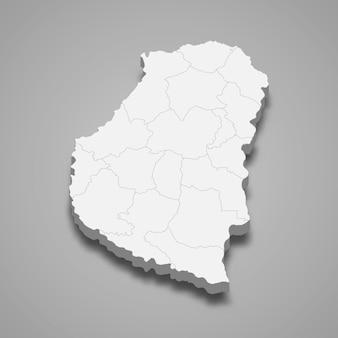 Carte isométrique d'entre rios est une province de l'argentine