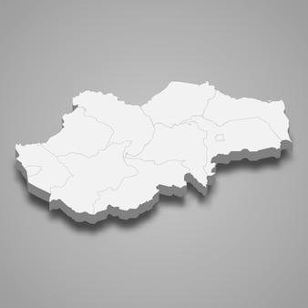 Carte isométrique de jambi est une province de l'indonésie
