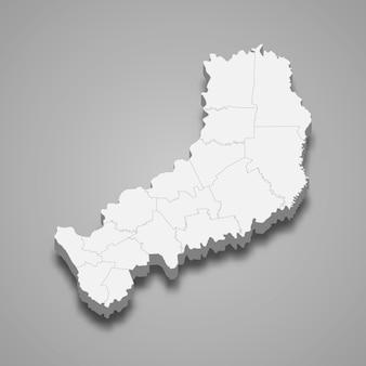Carte isométrique de misiones est une province de l'argentine