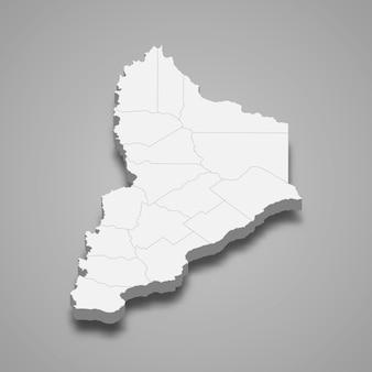 Carte isométrique de neuquén est une province de l'argentine