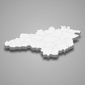 Carte isométrique de l'oblast de kirovohrad est une région de l'ukraine