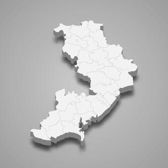Carte isométrique de l'oblast d'odessa est une région d'ukraine