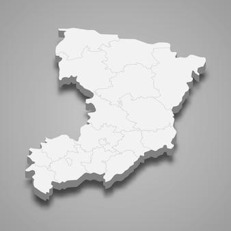 Carte isométrique de l'oblast de rivne est une région d'ukraine