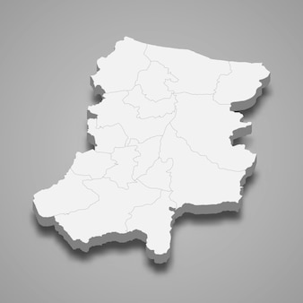 Carte isométrique de sakarya est une province de la turquie