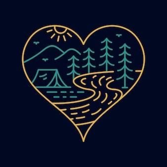 Carte à jouer coeur symbole de la nature