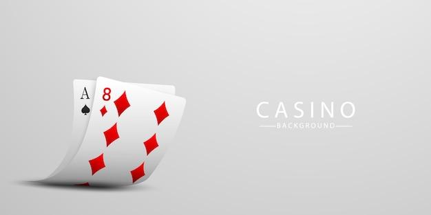 Carte à jouer. gagner du poker