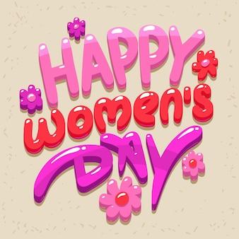Carte de jour des femmes heureux.