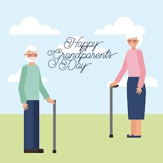 Carte de jour des grands-parents