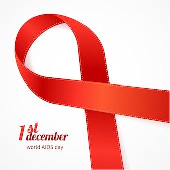 Carte de jour de sida avec inscription.