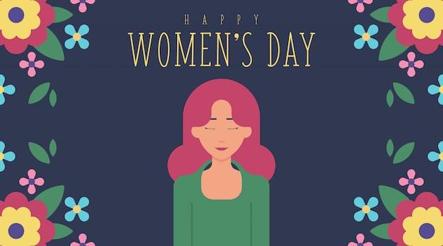 Carte de la journée de la femme du 8 mars