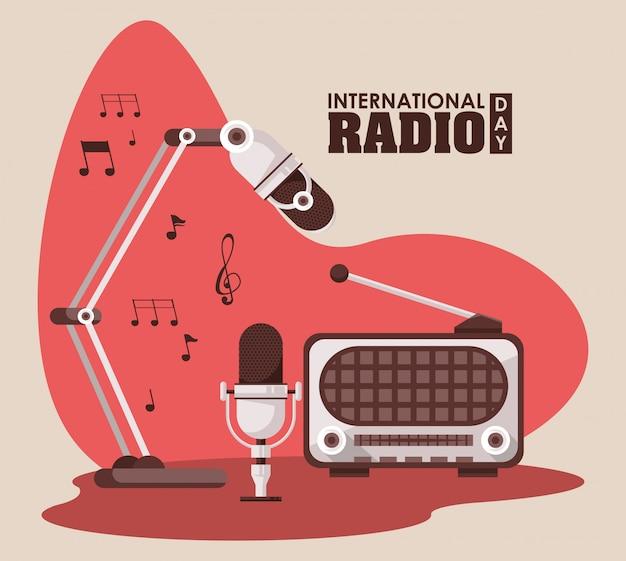Carte de la journée internationale de la radio