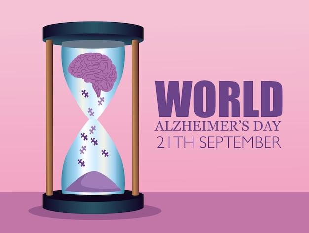 Carte de la journée mondiale de la maladie d'alzheimer