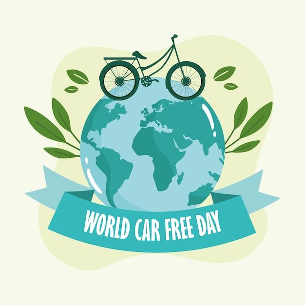 Carte de la journée mondiale sans voiture