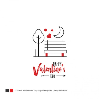 Carte de joyeuse saint-valentin
