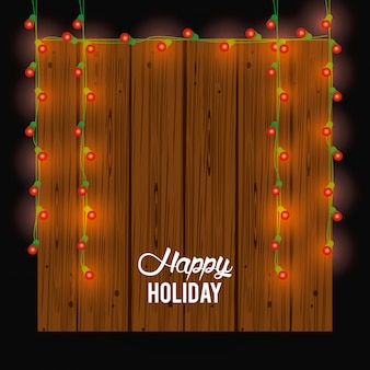 Carte de joyeuses fêtes et décoration